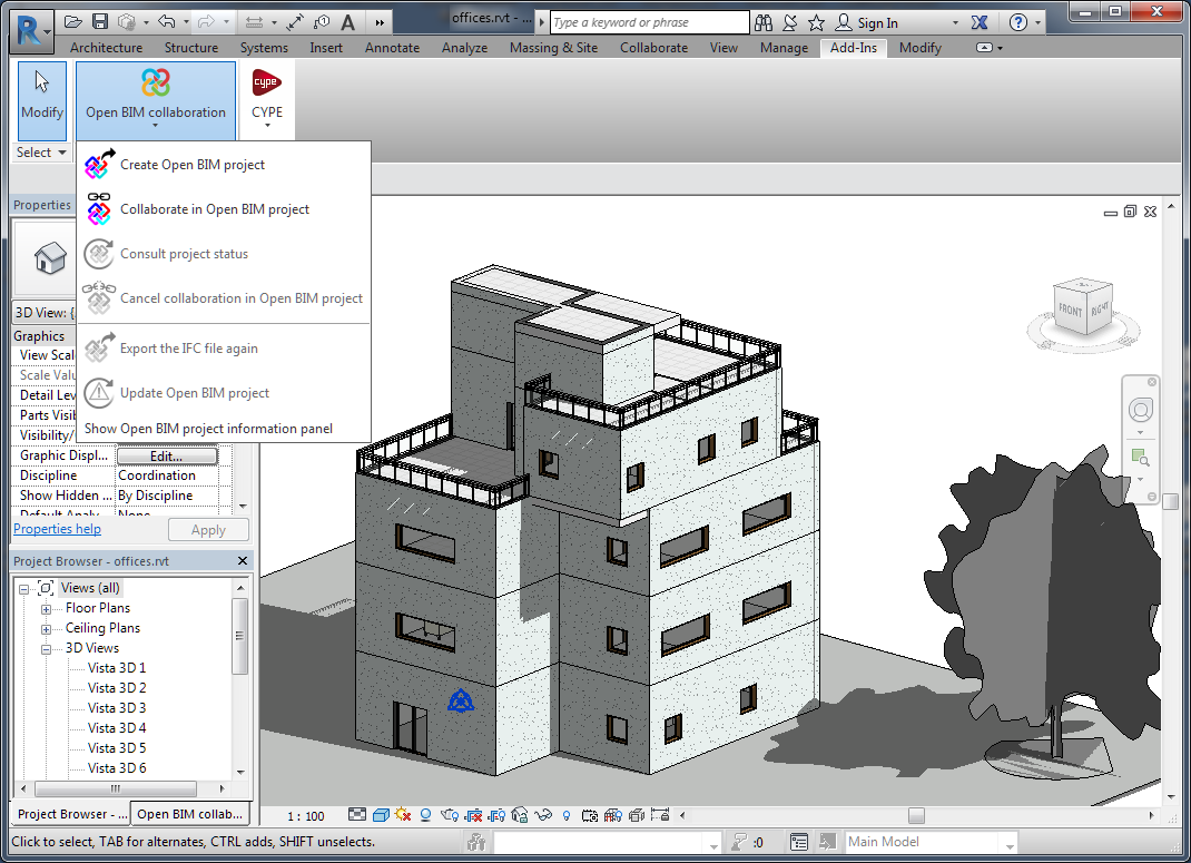 Open BIM add-in for Revit. Introduction