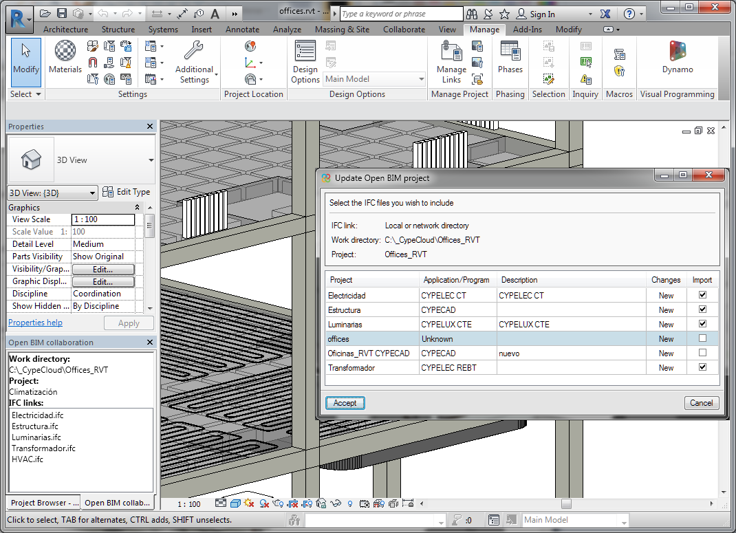Open BIM add-in for Revit. Features