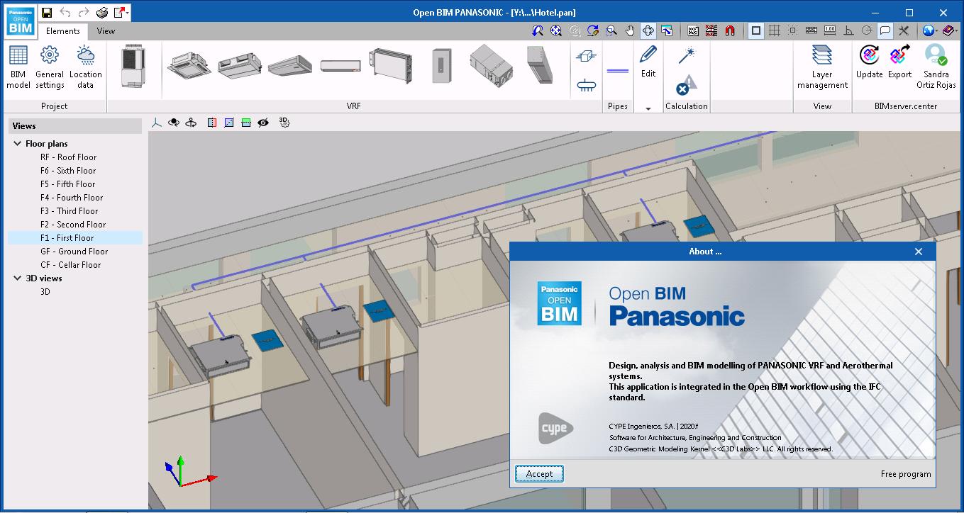 Open BIM PANASONIC. BIM selection tool for VRF systems